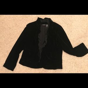 Studio dressy black velvet jacket